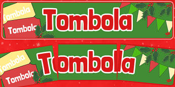 Christmas Themed Tombola Banner - christmas fair, tombola, display banner, display, banner