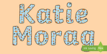 Katie Display Lettering - Requests CfE, Katie Morag display, Katie Morag stories, Mairi Hedderwick stories, Mairi Hedderwick,