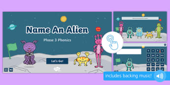 Name an Alien: Phase 3 Phonics Game, Twinkl Go, twinkl go, TwinklGo, twinklgo