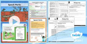 Y4 Language Conventions: Speech Marks Lesson Pack- - PlanIt Y4 Language Conventions:Speech Marks Lesson Pack, text structure and organisation, ACELA1492,