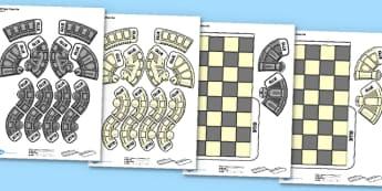 Printable Chess Game - chess, game, activity, printable, print