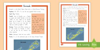 Bermuda Fact Sheet - Sailing, Bermuda, Americas Cup, Team New Zealand, racing, bermuda triangle