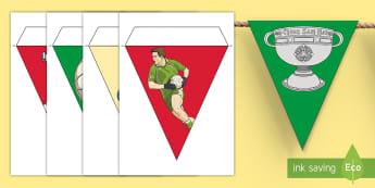 All Ireland Football Final Mayo Display Bunting - sam Maguire, winners, champions, flag, GAA