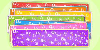 Editable Banner Alphabet - editable, editable banner, alphabet, display, banner, display banner, display header, themed banner, editable header, header