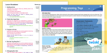 Computing: Programming Toys Year 1 Planning Overview - algorithm, Bee-Bot, Beebot, coding, ICT, debugging, debug, introduction, home learning,