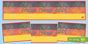 Happy New Year Display Banner German - German, Display, Banner, Happy New Year, New Year