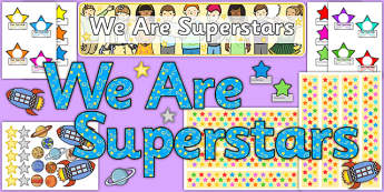 We Are Superstars Ready Made Reward Display Pack - superstars, readymade, reward, display, pack
