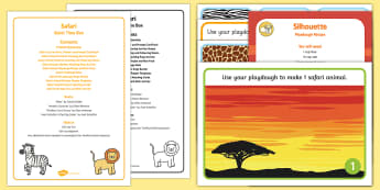 Safari Quiet Time Box - Safari, Africa, African animal, elephant, rhino, crocodile, table top activities