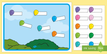 Balloon-Themed Self-Registration Display Pack - EYFS, Early Years, Reception, Nursery, attendance, register, balloon, balloons, self registration