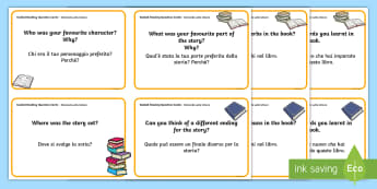 Guided Reading Question Cards English/Italian - Guided Reading Question Cards - guided reading question cards, question, cards, guided reading, read