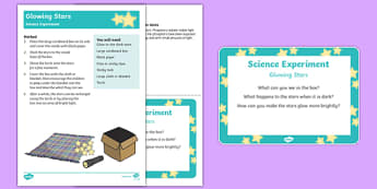 EYFS Glowing Stars Science Experiment and Prompt Card Pack