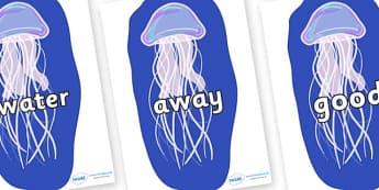 Next 200 Common Words on Jellyfish - Next 200 Common Words on  - DfES Letters and Sounds, Letters and Sounds, Letters and sounds words, Common words, 200 common words