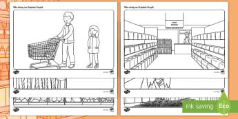 Bileoga Dathúcháin: Rás chuig an Scipéad Airgid - colouring pages, bileoga dathúcháin, Aistear, Téamaí Aistear, Aistear Themes, Naíonáin, Infant