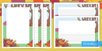 Little Acorns Page Border Pack - KS1, EYFS, writing, story, english, literacy, twinkl fiction, twinkl originals