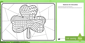 Whole Class Large Shamrock Art Activity Sheet - st patrick's day, saint patrick's day, st patricks, saint patrick, st patrick's day