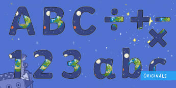 Back to Earth with a Bump Display Lettering - Back to earth with a bump, display lettering, KS1, EYFS, letters