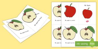 My Apple Emergent Reader - apple, apples, apple reading, apple mini book, apple printable, apple activity, apple vocabulary, ap