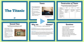 The Titanic Information PowerPoint - titanic, info, powerpoint