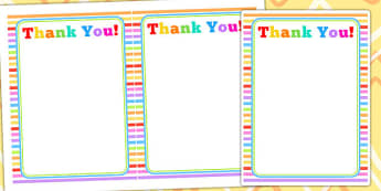 Rainbow Themed Birthday Party Thank You Cards - parties, birthday