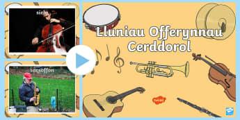 Pŵerbwynt Lluniau Offerynnau Cerddorol  - offerynnau, instruments, lluniau, photos, cerdd, music,,Welsh