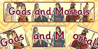 Gods and Mortals Display Banner - banners, displays, mortal