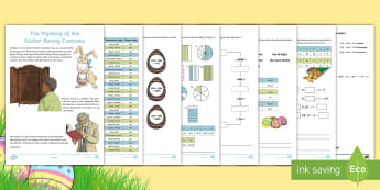 LKS2 Easter Mystery Maths Game - LKS2, maths game, maths skills, multiplication, division, fractions, clues, solving clues, addition,
