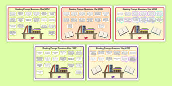 2014 Curriculum Reading Prompt Questions Mats KS2 - mats, prompt