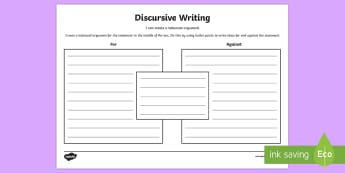 Blank Discursive Writing Template - CfE Writing,discursive writing,balanced argument,LIT 2-29a,,Scottish