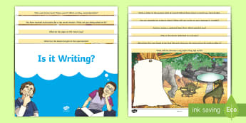 Is It Writing? Activity Booklet - Anti-Writing Resources, reluctant writers, quick writing task, writing homework, fun writing, thinki