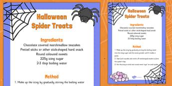 Halloween Spider Treats Recipe - halloween, spider, treats, recipe