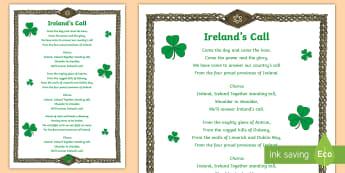 Ireland's Call Song - Ireland's Call Song - ROI 6 Nations Feb/March 2017, Ireland's Call, Rugby, Song, Ireland, Anthem,I