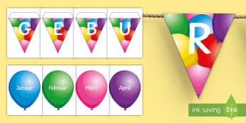 Balloon Themed Birthday Display Pack - birthday, display, pack, balloon, bithday