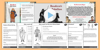 Boudicca Drama Activity Lesson Teaching Pack - boudicca, history
