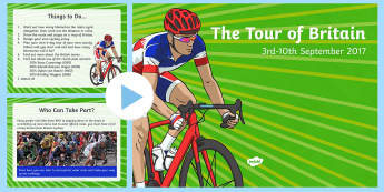 The Tour of Britain 2017 PowerPoint - Tour of Britain, Tour de Britain, Cycle race, bike racing, bike race, cycle race, bradley wiggins, s
