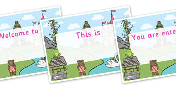 Traditional Tales Themed Editable Class Welcome Signs - traditional tales themed welcome signs, traditional tales, welcome signs, traditional tales signs