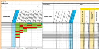 KS2 Mathematics Analysis Grid for 2016 SAT Past Papers Assessment Spreadsheet - KS2, mathematics, maths SATs past paper, 2016 past paper, KS2 mathematics score analysis, analysis g