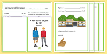 A New School Uniform for KS4 Social Situation - Transition, uniform, teenagers, social story, social stories, new blazer