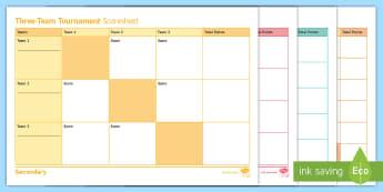Netball: Tournament Score Sheets Resource Pack  - score, card, sheet, tournament, netball