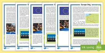 Europe Day Differentiated Fact File - Scotland, Europe Day, Scot, Geography, culture, information, reading, comprehension, differentiated,