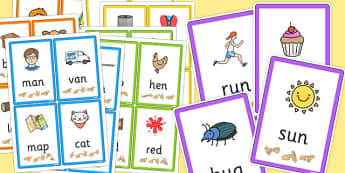 CVC Flash Cards with British Sign Language Complete Pack - cvc