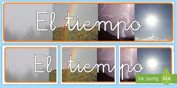 Pancarta: El tiempo con fotos - pancarta, cartel, exponer, exposición, decorar, decoración, mural, el tiempo, tiempo, fotos, fotog
