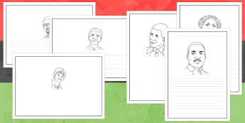 Black History Month Writing Frames - black history month, writing frames, significant individuals