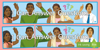 I Can Answer Questions Banner - motivation, positive, classroom, diverse