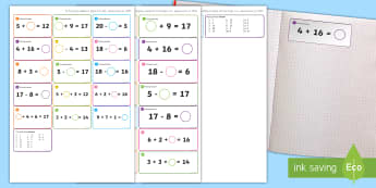 Missing Number Themed Maths Sticky Avery Labels - Maths, Problems, Word Problems, KS1, Key Stage One, Scenario, Challenges, Stickers