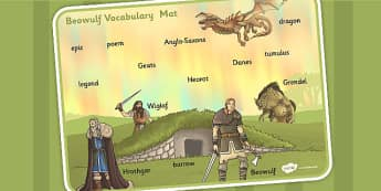 Beowulf Vocabulary Mat - beowulf, vocabulary, mat, words, ks2