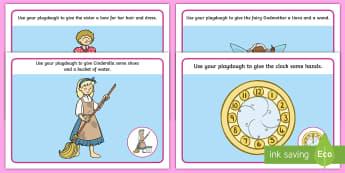 Cinderella Playdough Mats - cinderella, playdough, mats, activity