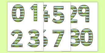 Bridge Themed Editable Numbers 1-30 - bridge, themed, editable, numbers, 1-30, edit