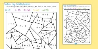 Colour By Multiplication - australia, colour, multiplication