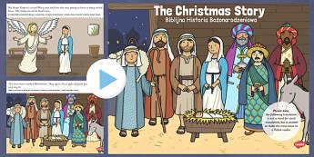 The Nativity Christmas Story PowerPoint Polish Translation - polish, nativity, christmas, story, powerpoint