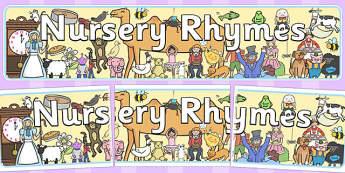 Nursery Rhyme Display Banner - nursery rhyme, rhyme, rhyming, nursery rhyme story, nursery rhymes, display, banner